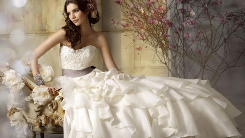 white wedding dress 2013 hd wallpaper